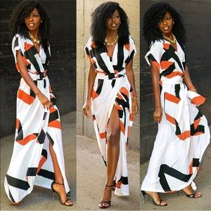 Summer colorful maxi long light sexy dress New